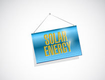 Solar energy hanging banner illustration design Stock Image