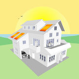 Solar Energy Home Stock Photos