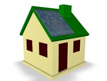 Solar Energy House. Concept Stock Photography
