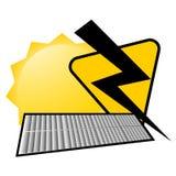 Solar energy icon Stock Images