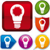 Solar energy icon Stock Images