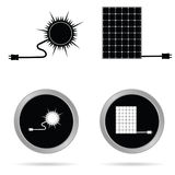 Solar energy icon art vector. Solar energy icon vector illustration on a white background Stock Image
