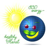 Solar energy  illustration. This is file of EPS10 format Royalty Free Stock Photo