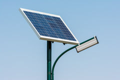Solar Energy Light Post Royalty Free Stock Photos
