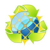Solar Energy Logo. Eco arrows. Vector illustration Stock Images