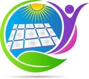 Solar energy logo Stock Image