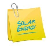 Solar energy memo post illustration design Stock Images