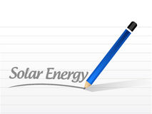 Solar energy message illustration design Stock Photography