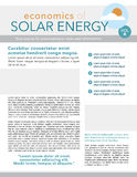 Solar energy newsletter Stock Photography