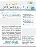 Solar energy newsletter Stock Photography