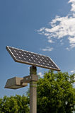 Solar energy panel. Solar energy  is a new and clean source Royalty Free Stock Images