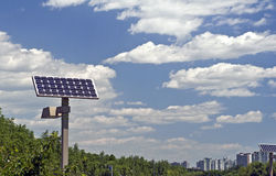 Solar energy panel. Solar energy  is a new and clean source Stock Photos