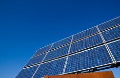 Solar energy panel with a blue sky Royalty Free Stock Images