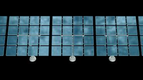 Solar energy panel 3d. Solar energy panel. 3d render video available in 4k FullHD and HD render footage stock illustration