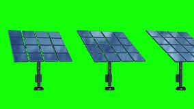 Solar energy panel 3d. Solar energy panel. 3d render video available in 4k FullHD and HD render footage royalty free illustration