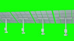Solar energy panel 3d. Solar energy panel. 3d render video available in 4k FullHD and HD render footage vector illustration