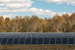 Solar Energy Panel Farm stock photography