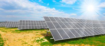 Solar energy panels. Stock Photos