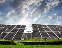 Solar energy panels. Against sky Royalty Free Stock Photos