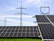 Solar energy panels. Against sunny sky Stock Photos