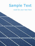 Solar energy panels. With room for your text stock photography