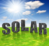Solar energy panels. Against sunny sky Stock Photography