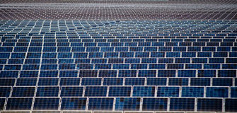 Solar Energy Panels. An Image Of Multiple Lineup Solar Panels Royalty Free Stock Images