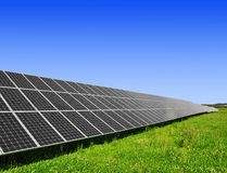 Solar energy panels. Against blue sky Royalty Free Stock Images