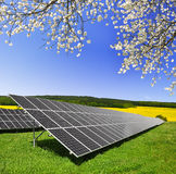 Solar energy panels. Against blue sky Stock Photo