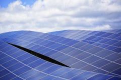 Solar energy. Panels against cloudy sky Stock Photography