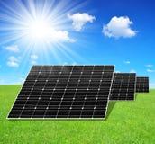 Solar energy panels Stock Image
