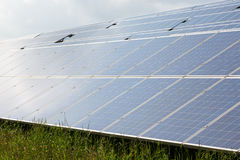Solar energy panels for clean electricity production Royalty Free Stock Photography