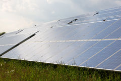 Solar energy panels for clean electricity production Stock Photography