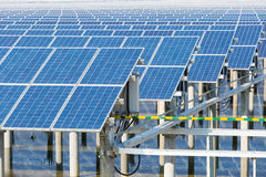 Solar energy panels closeup Stock Photos