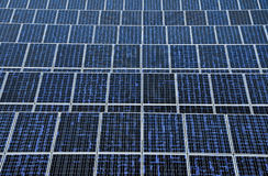Solar energy panels. Pattern of the solar energy panels top view Stock Photos