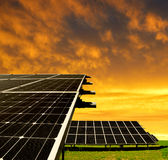 Solar energy panels Stock Image