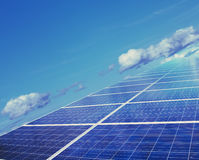 Solar energy panels. On sky Stock Images
