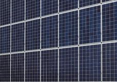 Solar energy panels at wall or roof. Photovoltaic solar energy panels, alternative electricity source, cheap and clean energy Stock Photos