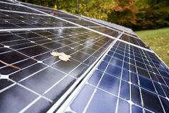 Solar Energy Panels At Work Stock Images