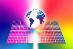 Solar energy panels world Stock Photo