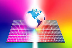 Solar energy panels world Stock Images