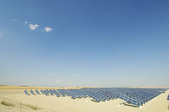 Solar energy plant Royalty Free Stock Image