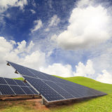 Solar energy plants Stock Images