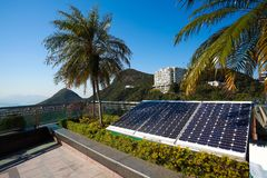 Solar energy power generator for sustainable development Royalty Free Stock Image
