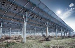Solar energy power plant Stock Images