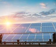 Solar energy power plant Stock Image