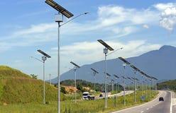 Solar energy. Public lighting generated by solar energy Royalty Free Stock Photo