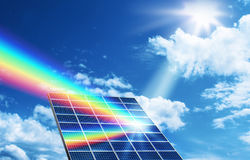 Solar energy renewable energy concept Royalty Free Stock Photos