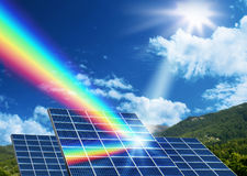 Solar energy renewable energy concept Stock Image