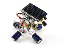 Solar energy robot Royalty Free Stock Photo